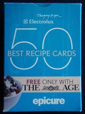 Electrolux 50 Best Recipe Epicure Cards