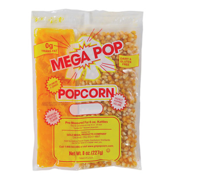 Gold Medal Mega Pop Popcorn Kit 6 oz. kit 36 Ct Eliminates Costly Waste Theater