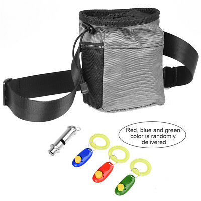 Pet Puppy Dog Training Food Pouch Dog Training Treat Waistbag W/ Whistle Clicker