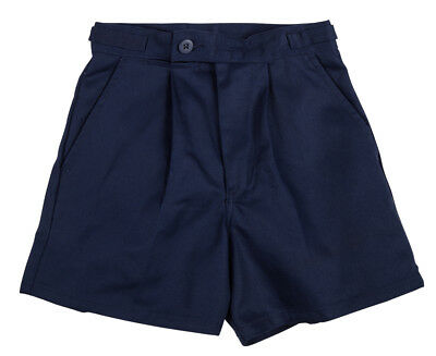 Hard Yakka Men's Utility Shorts w/ Side Tabs - Navy
