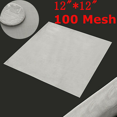 100Mesh Stainless Steel Woven Wire Filtration Grill Sheet Fine Filter 30x30cm UK