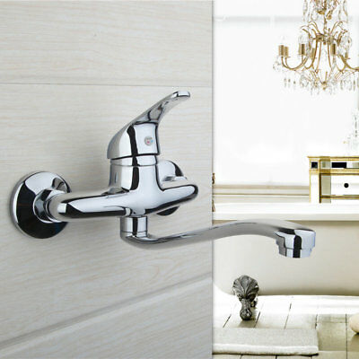 Bathroom Faucet Basin Mixer Sink Tap Single Handle Wall Mounted Water TAPS