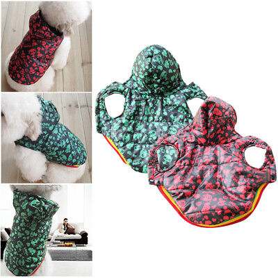 Pet Dog Cat Clothes Hoodie Winter Warm Coat Puppy Sweater Jacket Costume Apparel