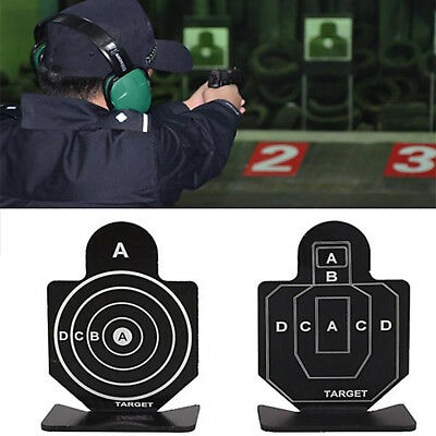 Outdoor Iron Target Holder Air Rifle Silhouette Shooting Airsoft Pistol Practice