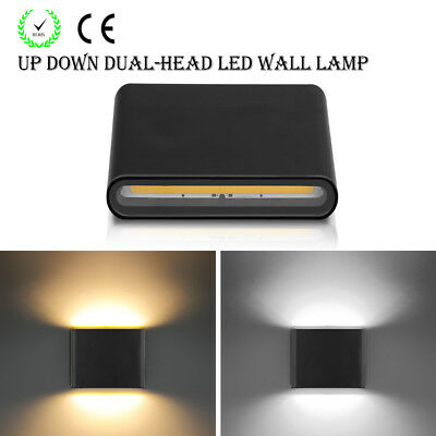 Up Down Dual-Head 6W COB LED Wall Light Garden Indoor Outdoor Decoration Lamp