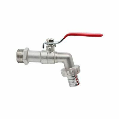 "Tap Water Lever Type Valve 1/2'' 3/4"" Red Handle+ Hose Union"
