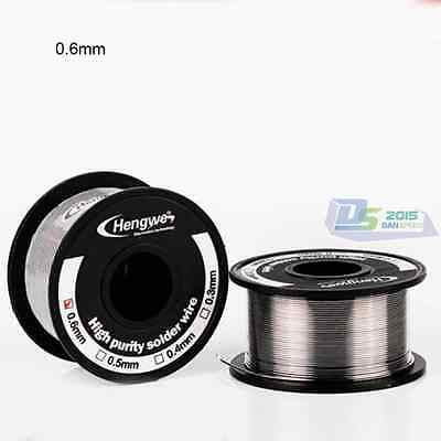 1x 0.3/0.4/0.5/0.6mm 80/20 High Purity Tin Lead Roll Cored Solder Soldering Wire
