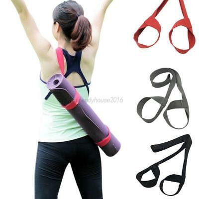 AU Adjustable Yoga Mat Sling Carrier Shoulder Carry Belt Strap Holder 7 Colors