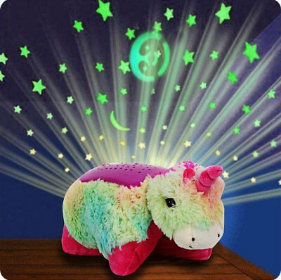 Soft Animal Pet Pillow Night Light Unicorn Cushion Bed Light for Children Toy