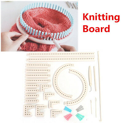5000-100 Knitting Board Knit DIY Multi-function Craft Yarn & Weave Loom Kit Tool