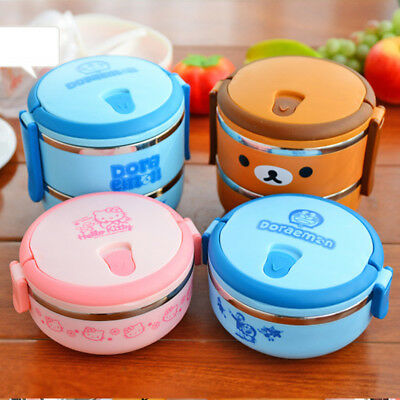 Stainless Steel Thermal Bowl Dinnerware 1 Layer Lunch Box Food Storage Container