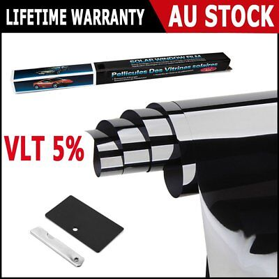 Window Tint Film Black 5% VLT 760mm X 7m Roll 76cm X 7m Car Auto House