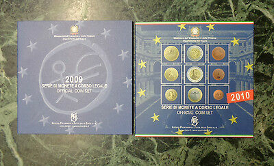 Lotto 2 Serie 9 Monete In Euro 2009 2010 Italia Official Coin Set Subalpina