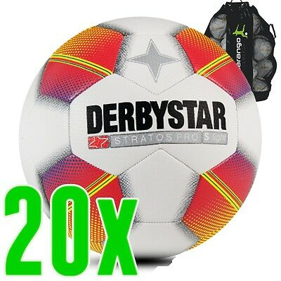 Derbystar Stratos per s-Light white red yellow 20 Ball package Youth Children's