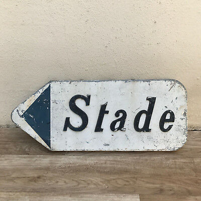 French Street metal  relief Sign Plaque - STADE  24081721