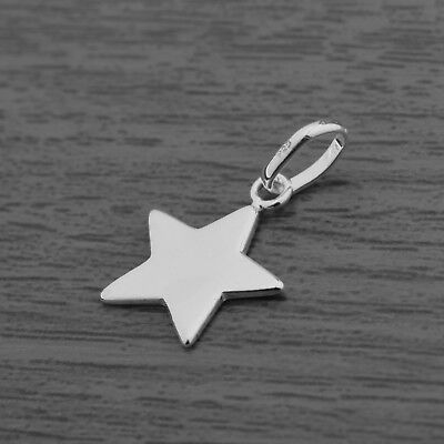 Genuine 925 Sterling Silver Petite Star Pendant (without Chain/Necklace)