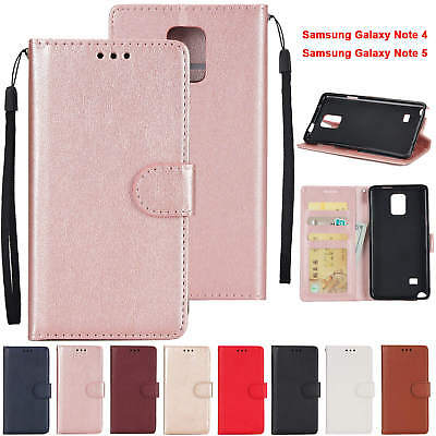Magnetic Flip PU Leather Wallet Card Case Cover for Samsung Galaxy Note 4 5 8 9