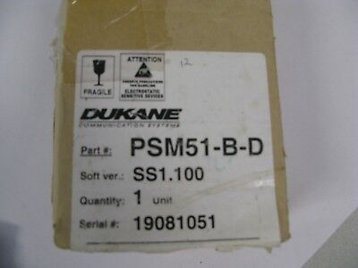 PSM51-B-D Supervised Single Patient Station Dukane Nurse Call Monitor Panel