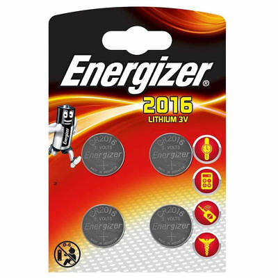 4 Energizer CR2016 Batteries Lithium Battery 3V Button/Coin Cell CR 2016