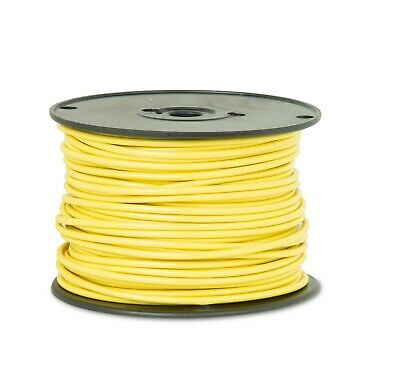 "8 AWG Gauge GPT Primary Wire Stranded Hook Up Wire Yellow 100ft 0.1285"" 60 Volts"