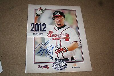 Chipper Jones Signed Atlanta Braves Final Season Poster