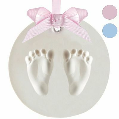 Precious Prints Baby Foot / Hand Print Air Drying Clay Casting Kit Ornament Gift