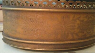Toleware Oval Gold Cachepot Planter Made In France