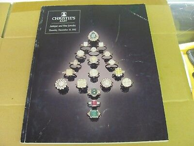 A1007 Old Pawn Christie's Antique And Fine Jewelry Dec 10, 1992 Magazine