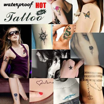 Body Art Removable Waterproof Temporary Tattoo Stickers Kitsch Party UK-D-36