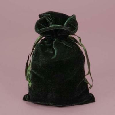 Hunter green velvet 6x9 tarot and dice bag Pouch Bag With Drawstring Jewelry bag