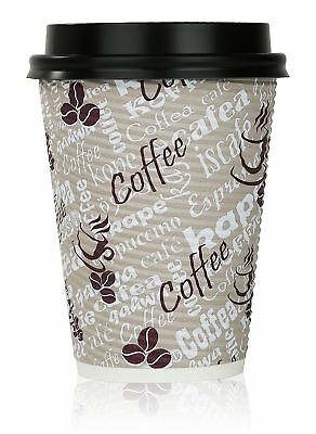 Quality 12 Oz. Disposable Hot Coffee Insulated Cups By Golden Spoon – 50 Pack...