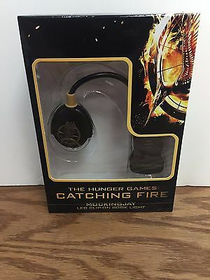 LED CLIP-ON BOOK LIGHT The Hunger Games MOCKINGJAY Catching Fire ** NEW **