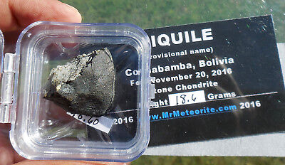 "18.6 gram  ""Aiquile"" Meteorite -  end cut -  from Nov 20, 2016 fall in Bolivia"