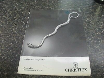 A1013 Old Pawn Christie's Antique And Fine Jewelry Jan 11, 1990 Magazine