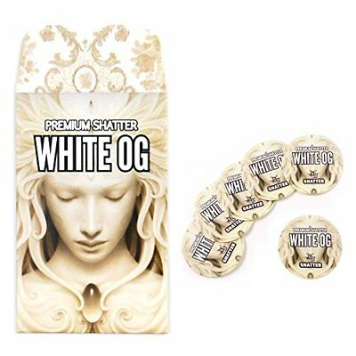 White OG Shatter Extract Envelopes & Strain Rx Cannabis Label Stickers Combo