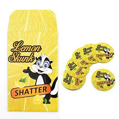Lemon Skunk Shatter Extract Envelopes & Strain Rx Cannabis Label Stickers Combo