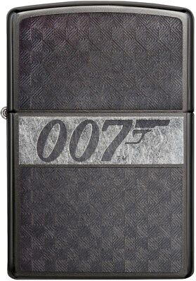 Zippo Choice James Bond 007 Collection Engraved Chrome Lighter Grey Dusk 29564