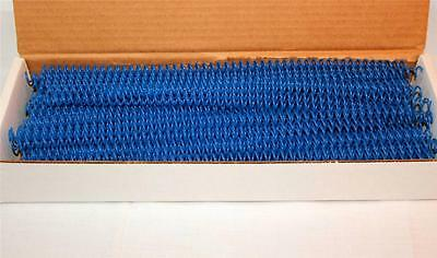 "7 mm Royal Blue Plastic Spiral Coil Binding 12"" 4:1 Pitch New Box of 100"