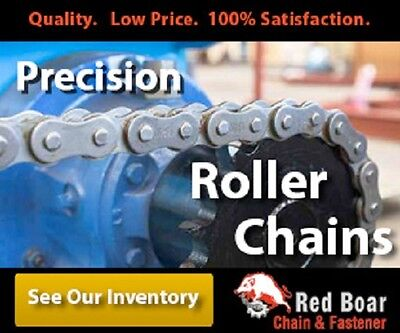 """5 Feet of #50 Riveted Roller Chain 5/8"""" Pitch 2 Connecting Links 5ft Total"""