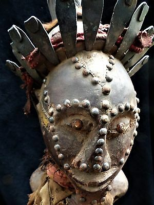 "orig $299-SONGYE RITUAL NIKISI, BRASS, COPPER, EARLY 1900S REAL 30"" PROV."