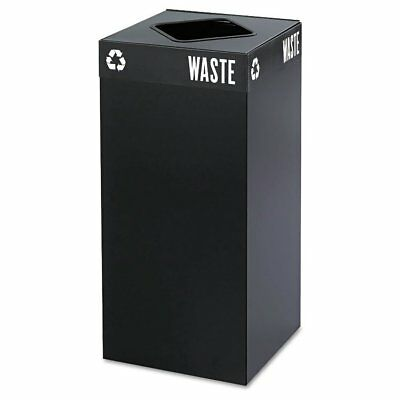 Safco Public Square Recycling Container, Square, Steel, 31gal, Black 2982BL  ...