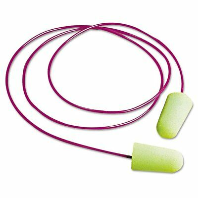 Moldex Pura-Fit Single-Use Earplugs, Corded, 33NRR, Bright Green, 100 Pairs  ...