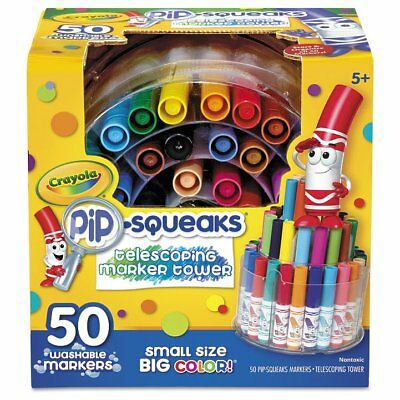 Crayola Pip-Squeaks Telescoping Marker Tower, Assorted Colors, 50/Set - CYO5 ...