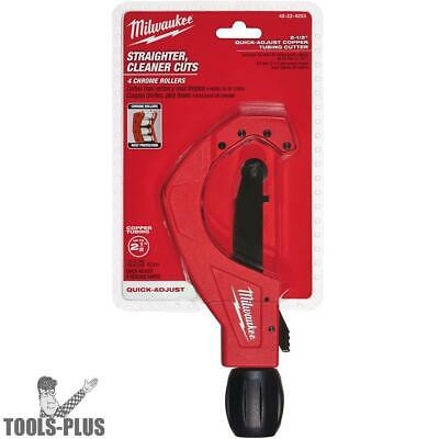 "Milwaukee 48-22-4253 2-1/2"" Quick Adjust Copper Tubing Cutter New"