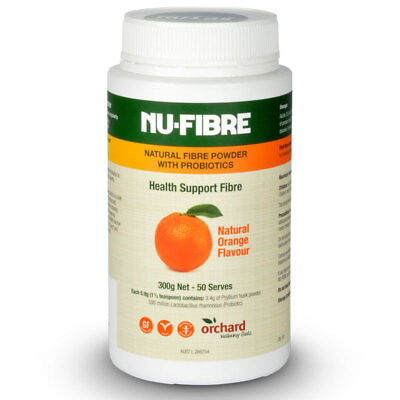 NuFibre Natural Fibre Powder with Probiotics Orange 300g