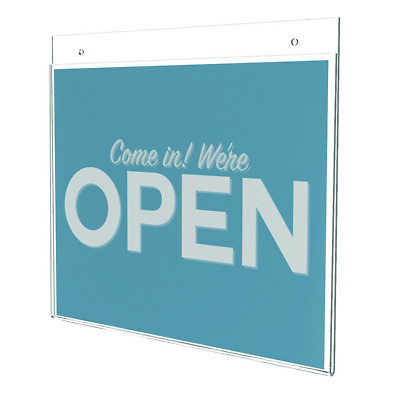 deflect-o Classic Image One-Sided Wall Sign Holder, Plastic, 11 x 8.5 (68301)