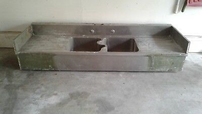 antique kitchen butler pantry german silver sink with S divider