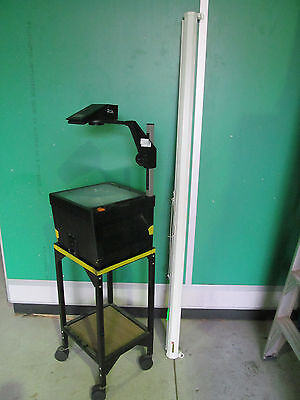 Kodak Deluxe II - A4 Overhead Projector on Trolley with Projector Screen