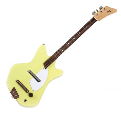 Loog Electric Guitar 3-String Solid-Body Electric Guitar, Yellow