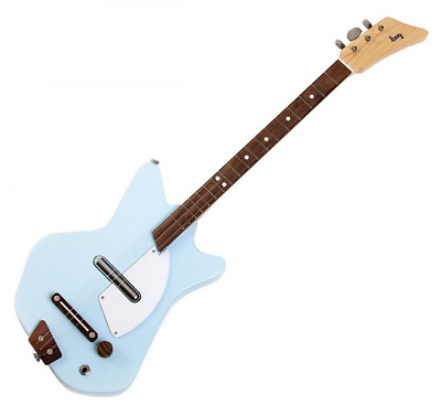 Loog Electric Guitar 3-String Solid-Body Electric Guitar, Blue